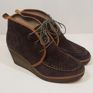 Olukai Wali Wedge Leather Booties women's size 7.5